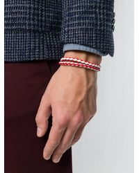 Tod's - White Braided Wrap Bracelet for Men - Lyst