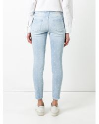 Stella McCartney - Blue Embroidered Star Detail Jeans - Lyst