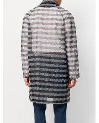 Fendi Black Zucca Pattern Single-breasted Coat for men