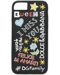 Dolce & Gabbana - Black Statement Print Iphone7/8 Case - Lyst
