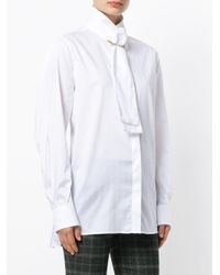 Burberry - White Safety Pin Tie Shirt - Lyst