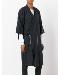 Julien David - Black Oversized Coat for Men - Lyst