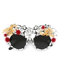 Dolce & Gabbana - Black 'mama's Brocade' Limited Edition Sunglasses - Lyst