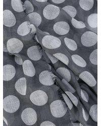 Faliero Sarti - Gray Polka-dot Scarf - Lyst