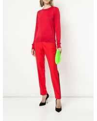 Dolce & Gabbana - Red Loose Fitted Sweater - Lyst