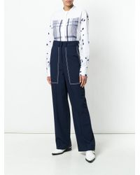 Ports 1961 - Blue Straight Leg Trousers - Lyst