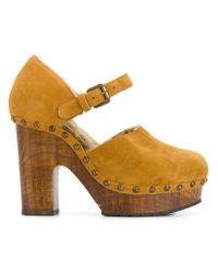L'Autre Chose - Multicolor Zoccolo Crosta Heels - Lyst
