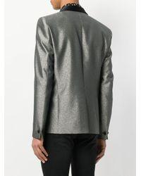 Saint Laurent - Metallic Smoking Jacket for Men - Lyst