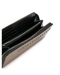 COACH Brown Stitched Zip Around Wallet for men