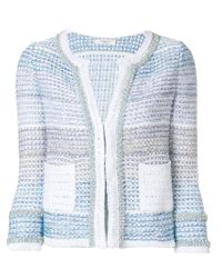 Charlott - Blue Pearl Embellished Jacket - Lyst