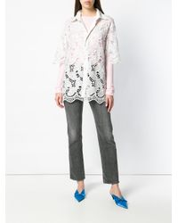 Ashish - White Lace Leaf Longline Shirt - Lyst
