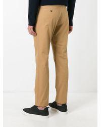 KENZO - Brown Straight Leg Trousers for Men - Lyst