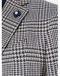 Lardini - Gray Houndstooth Pattern Blazer for Men - Lyst