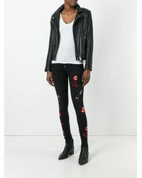 Philipp Plein - Black Embroidered Skinny Jeans - Lyst