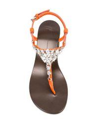 Giuseppe Zanotti - Multicolor Crystal Embellished Sandals - Lyst