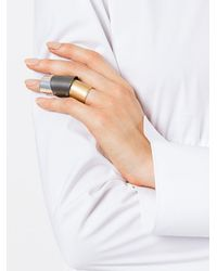 Maison Margiela - Metallic Trio Rings - Lyst