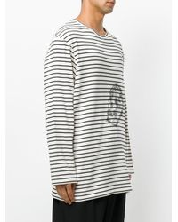 Yohji Yamamoto - Multicolor Striped Skull T-shirt for Men - Lyst