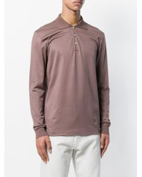 Boglioli - Brown Long Sleeve Polo Shirt for Men - Lyst