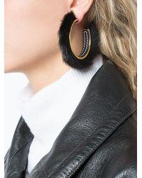Marni - Black Trim Hoop Earrings - Lyst
