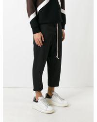 Rick Owens Drkshdw - Black Drop-crotch Trousers for Men - Lyst