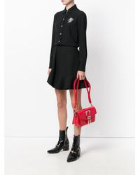 Versus  - Red Buckled Strap Shoulder Bag - Lyst
