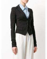 Patrizia Pepe - Black Fitted Blazer - Lyst