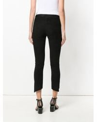 Salvatore Santoro - Black Asymmetric Cropped Skinny Trousers - Lyst