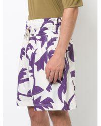 Vivienne Westwood - White Leaf Print Deck Shorts for Men - Lyst