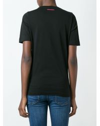 DSquared² - Black Printed T-shirt - Lyst