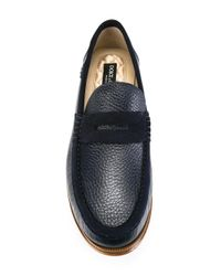 Dolce & Gabbana - Blue Suede Trim Loafers for Men - Lyst