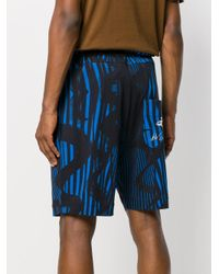 Vivienne Westwood - Blue Printed Deck Shorts for Men - Lyst