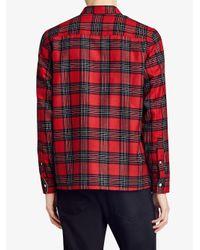 Burberry - Red Patch Pockets Tartan Shirt for Men - Lyst