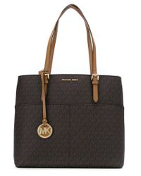 aef3036c7ce7 Lyst - MICHAEL Michael Kors Bedford Large Pocket Tote in Blue