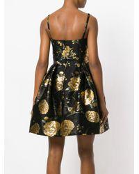 Dolce & Gabbana - Black Foil Print Dress - Lyst