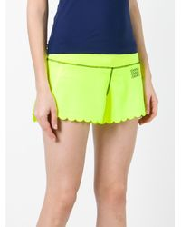 Monreal London - Green Scalloped Trim Shorts - Lyst