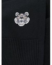 KENZO - Black Mini Tiger Scarf - Lyst