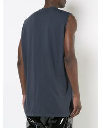 Rick Owens Drkshdw - Blue Sleeveless Jumbo T-shirt for Men - Lyst