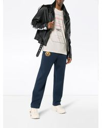 Gucci Multicolor Fashion Show Invite Print Cotton T Shirt for men