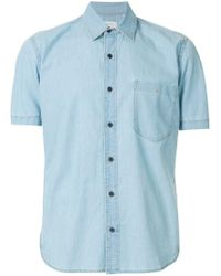Cerruti 1881 - Blue Short Sleeve Denim Shirt for Men - Lyst