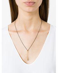Ileana Makri - Black Safety Pin Pendant Necklace - Lyst