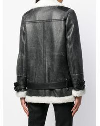 DROMe - Black Oversized Biker Jacket - Lyst
