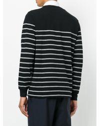 Polo Ralph Lauren - Black Striped Logo Sweater for Men - Lyst