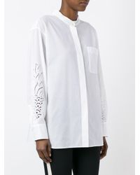Chloé - White Pineapple Broderie Anglaise Shirt - Lyst