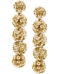 Sachin & Babi - Metallic Fleur Bouquet Earrings - Lyst