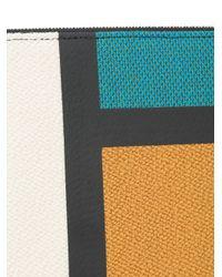 Valextra - Multicolor Colour Block Clutch - Lyst