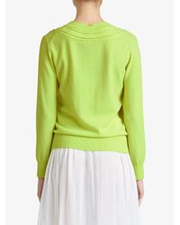 Burberry - Multicolor Cashmere Cable Knit Sweater - Lyst