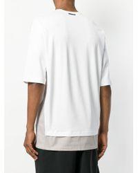 Diesel Black Gold - White T-Shirt mit lockerer Passform for Men - Lyst