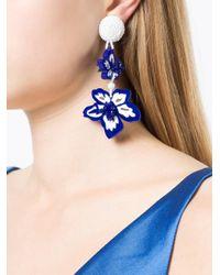 Sachin & Babi - Blue Beaded Floral Earrings - Lyst
