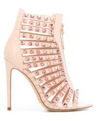 Gianni Renzi - Pink Studded Sandals - Lyst