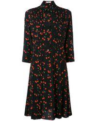 Chinti & Parker - Black Cherry Pleated Shirt Dress - Lyst
